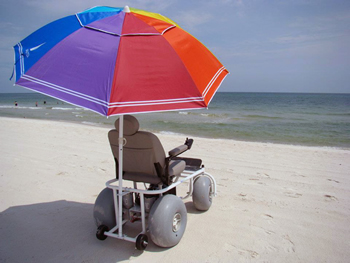beach power wheelchair